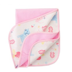 Baby Diaper Mat Waterproof-Pink Animal