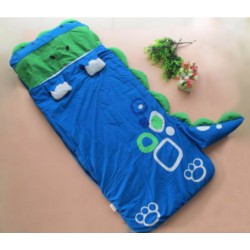 Dino Kids Sleeping Bag Bed 140cm X 60cm