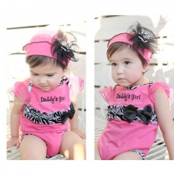 Romper Set Daddy's Girls with Cap