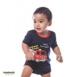 Mom's Fire Fighter Holabebe Romper
