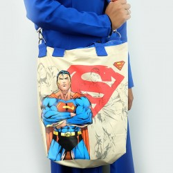 ECO Super Hero 2in1 Canvas Sling Tote Bag (Superman)