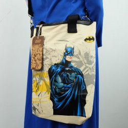 ECO Super Hero 2in1 Canvas Sling Tote Bag (Batman)