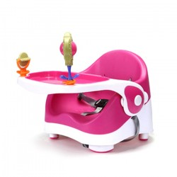 B.P PORTABLE MULTIFUCTION BABY BOOSTER DINNING CHAIR (PINK)