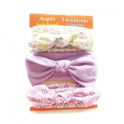 3in1 Headband Set (PURPLE FLOWER)
