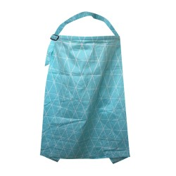 Nursing Cover (Blue Electric Triangle Plot)