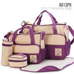 5 IN 1 MULTI FUNCTION MUMMY BAG: PURPLE