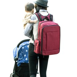 STYLISH DIAPER BAG (MAROON)