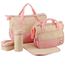 5 IN 1 MULTI FUNCTION MUMMY BAG : PINK