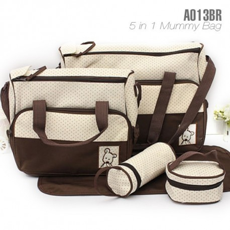5 IN 1 MULTI FUNCTION MUMMY BAG BROWN