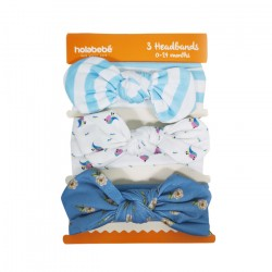 3IN1 HEADBAND SET-BLUE BIRDS
