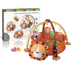 3 in 1 Activity Play Gym & Ball Pit - lion